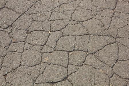 broken asphalt driveway